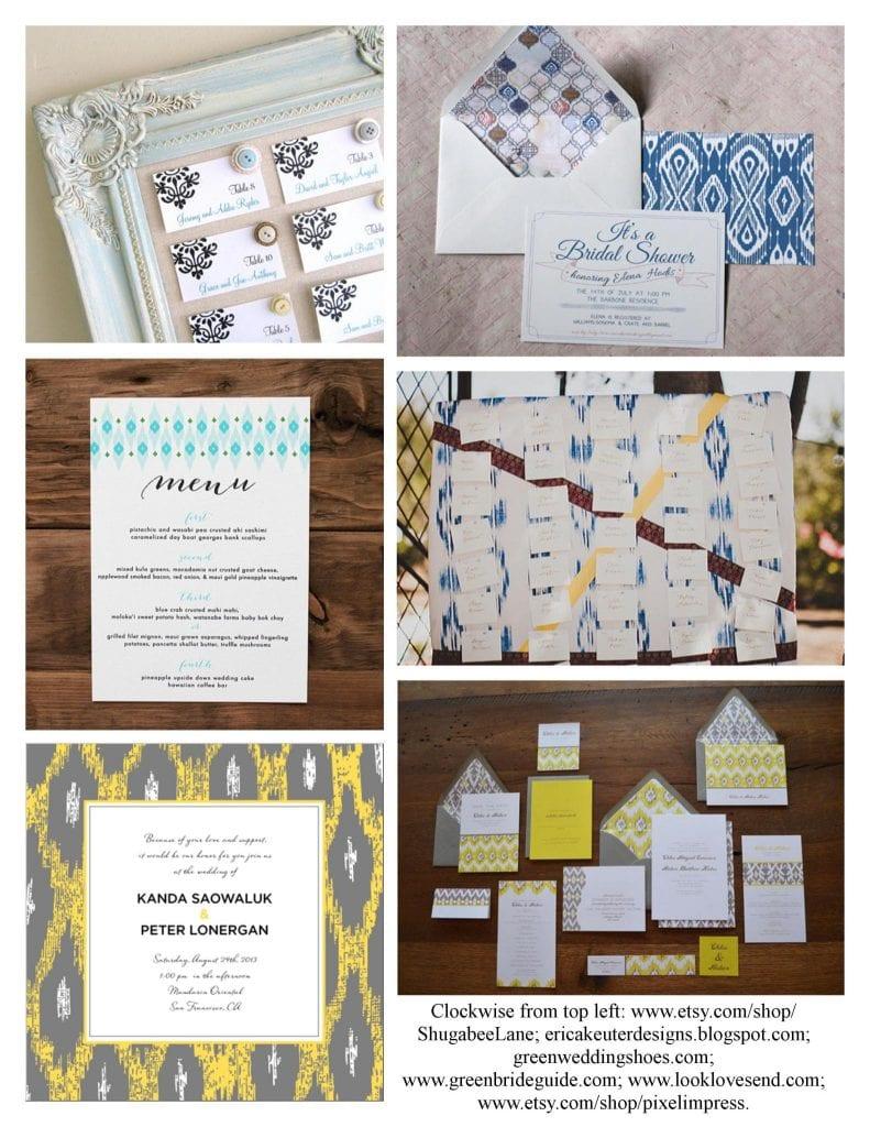 Ikat Wedding Card Inspiration